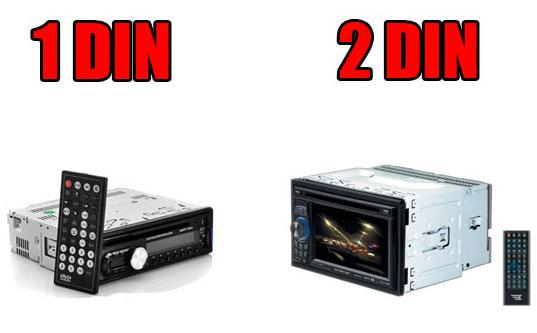 Différence entre un autoradio 1Din et 2din