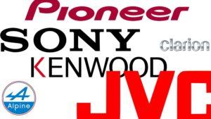 Meilleure Marque Autoradio - Historique d'Alpine Clarion Kenwood JVC Pioneer Sony