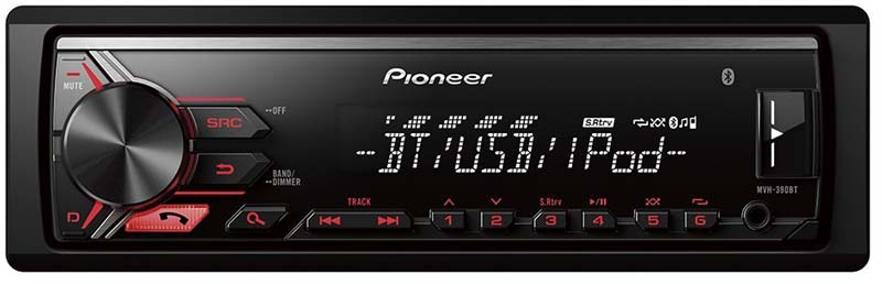 Pioneer MVH 390BT AutoRadio Bluetooth
